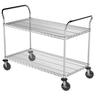 Akro-Mils Steel 14-inch x 48-inch Wire Shelf Cart
