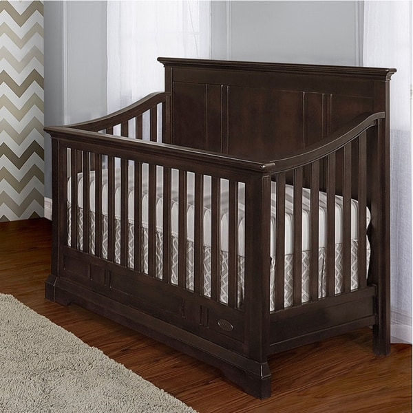 Evolur Parker Black Wood 5-in-1 Convertible Crib