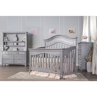 Evolur Cheyenne Grey Wood Five-in-one Convertible Crib