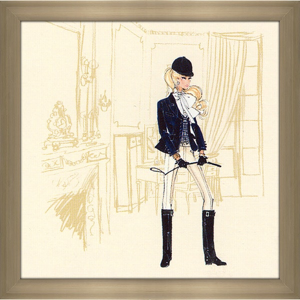 Robert Best 'Riding Outfit Barbie' Framed Fashion Wall Decor