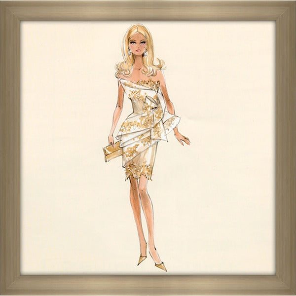 Robert Best 'Glimmer Barbie' Framed Fashion Wall Decor