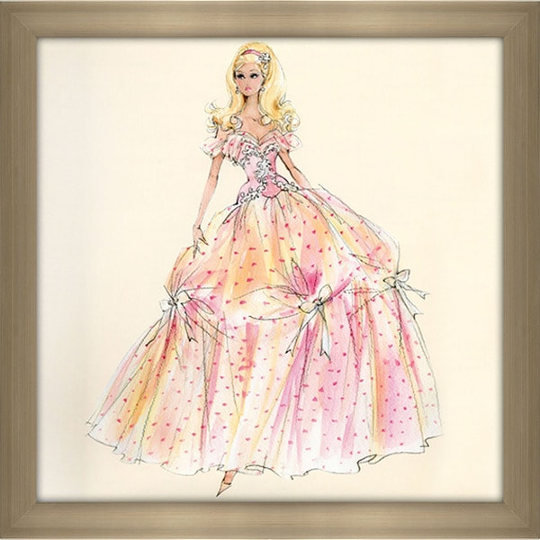 Robert Best 'Birthday Wishes Barbie Doll' Framed Fashion Wall Decor