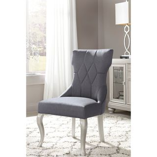 Signature Design by Ashley Coralayne Gray Dining Upholstered Side Chair (Set of 2)