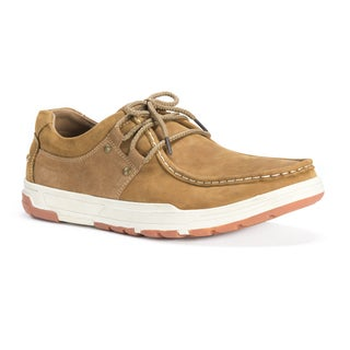 Muk Luks Men's Ross Brown Leather/Polyester Shoes