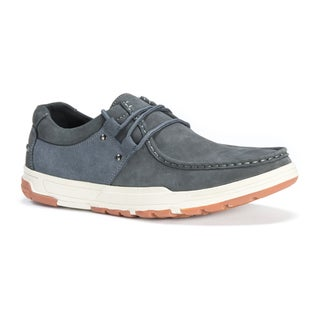 Muk Luks Men's Ross Grey Leather/Polyester Shoes