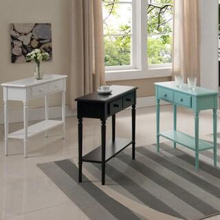 Coastal Narrow Hall Stand/Sofa Table With Shelf