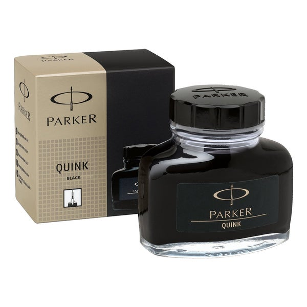 Parker Super Quink Permanent Black Ink Refill in 2-ounce Bottle