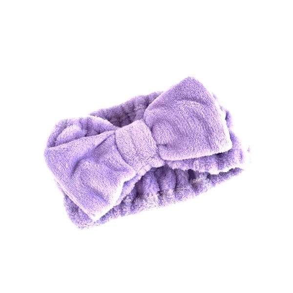 Deluxe Purple Microfiber Hairband