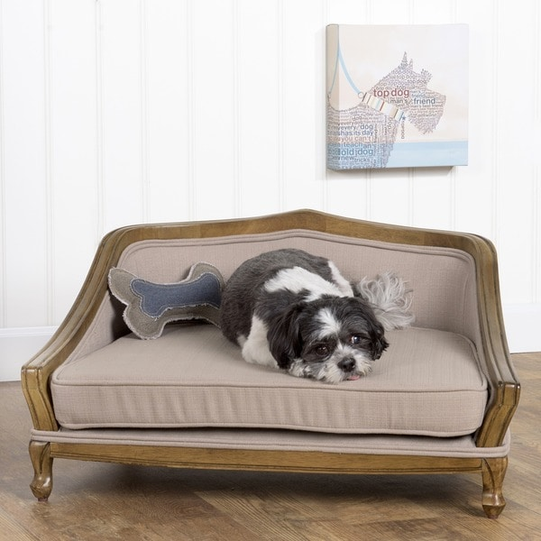 HomePop Wooden Dog Bed Sofa