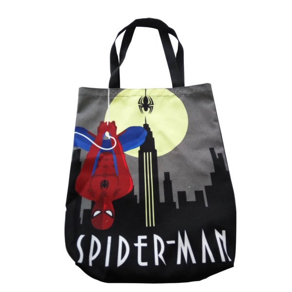 Marvel Decodant Spider-Man Black Canvas Shopper Tote Bag 19492951