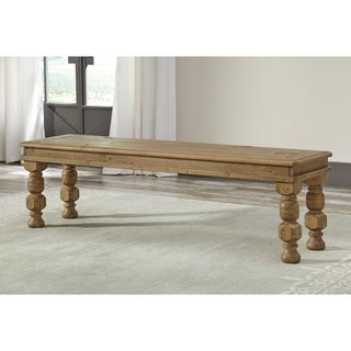Signature Design by Ashley Trishley Brown Large Solid Wood Dining Room Bench