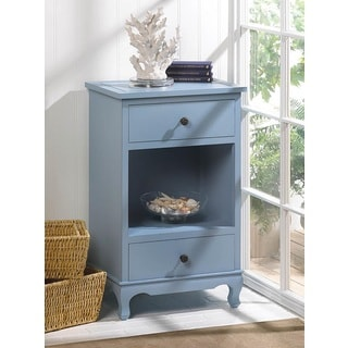 Heartside 2-drawer Blue Accent Table