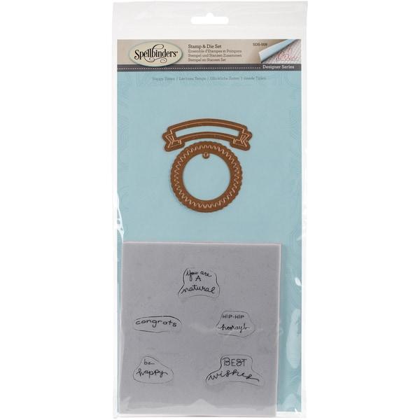 Spellbinders Stamp & Die Set Happy Times