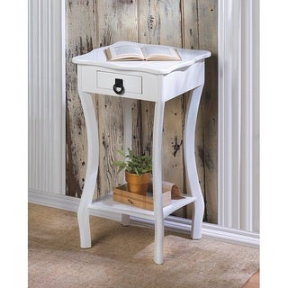 Gonzaga White Curved End Table