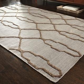Handcrafted Lennon Slate Wool Rug (9'3 x 13)