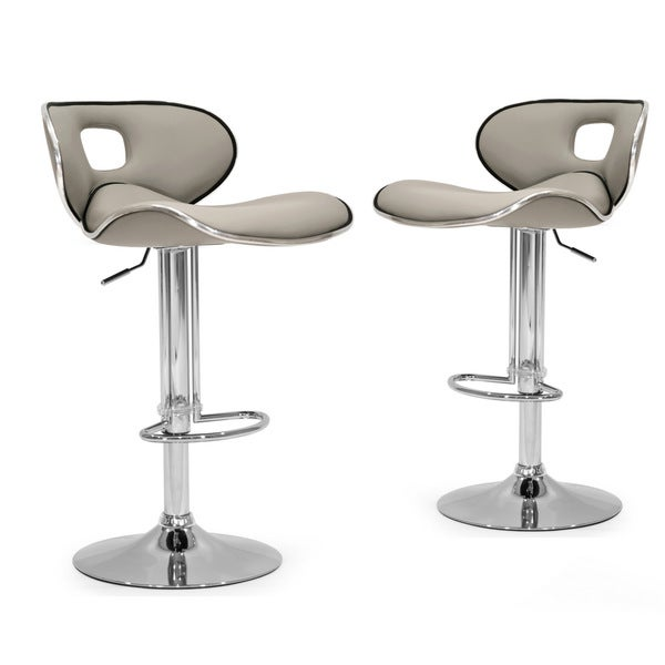 Adria White Black Grey Chrome Frame Adjustable Height