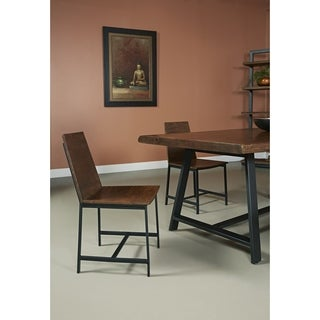 Somette Wood and Iron Dining Chair (Set of 2)