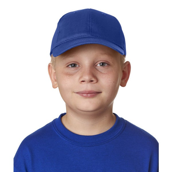 Boys' Royal Blue Cotton Twill Classic Cut 6-panel One-size Cap