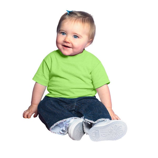 Infants' Key Lime Cotton Jersey Short-sleeved T-shirt