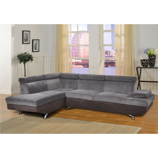 Amy Grey Right Chaise Sectional