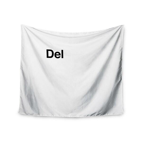 KESS InHouse Jackie Rose 'Delete' Black White 51x60-inch Tapestry