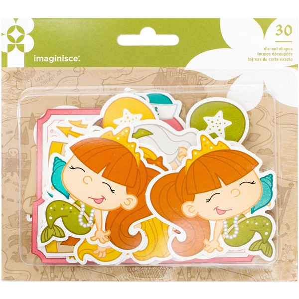 Par-r-rty Me Hearty Ephemera Die-Cuts 30/Pkg Cardstock Mermaid