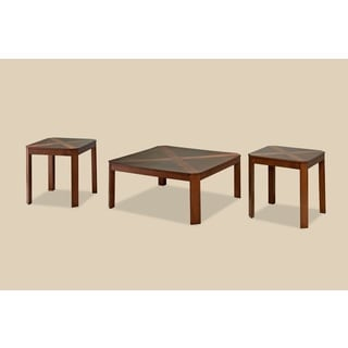 Bernards Norwood Occasional Cherry Square Cocktail Tables (Pack of 3)