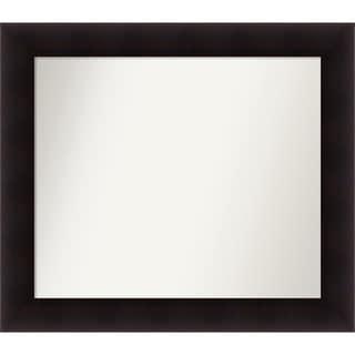 Wall Mirror Choose Your Custom Size - Medium, Portico Espresso Wood