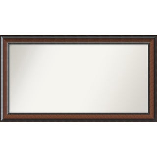 Wall Mirror Choose Your Custom Size - Extra Large, Cyprus Walnut Wood
