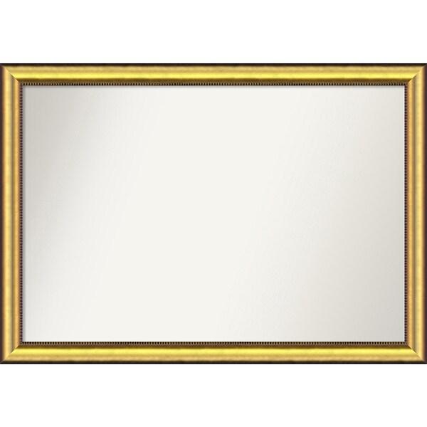 Wall Mirror Choose Your Custom Size - Extra Large, Vegas Burnished Gold Wood