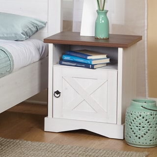 Simple Living Juliette White MDF Night Stand