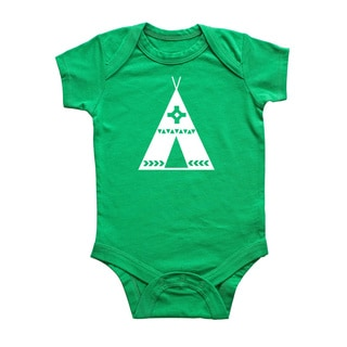 Rocket Bug Tribal Tipi Baby Bodysuit