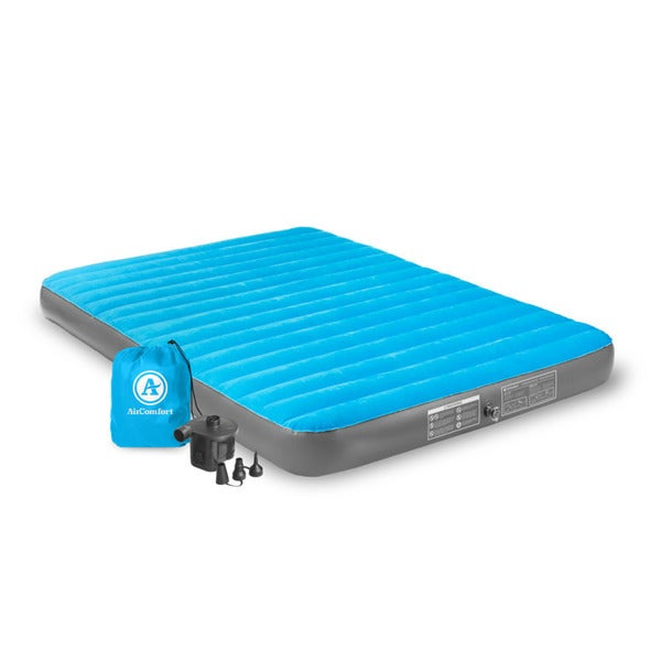 Air Comfort Camp Mate Blue PVC Queen-size Air Mattress