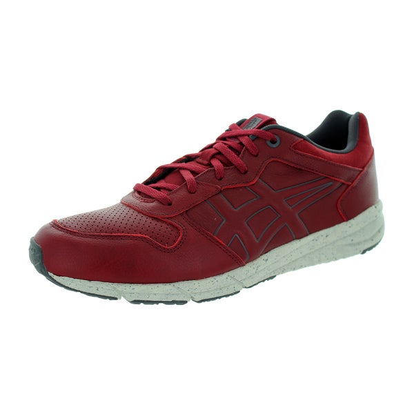 Onitsuka Tiger Men's Shaw Runner Burgundy Running Shoe
