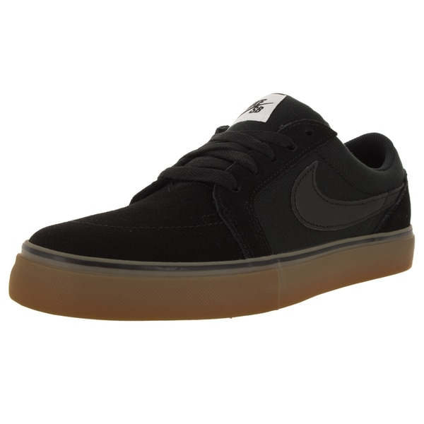 Nike Men's Satire II Black Suede Skate Shoes