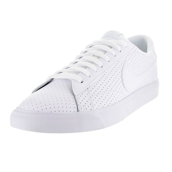 Nike Men's Tennis Classic AC White and Pure Platinum Synthetic and Leather Tennis Shoe