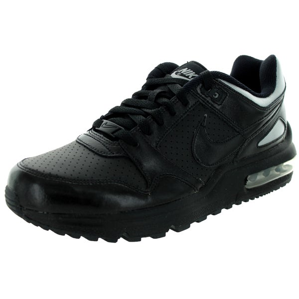 Nike Men's Air Max T-Zone LE Black Leather Running Shoe 19499067
