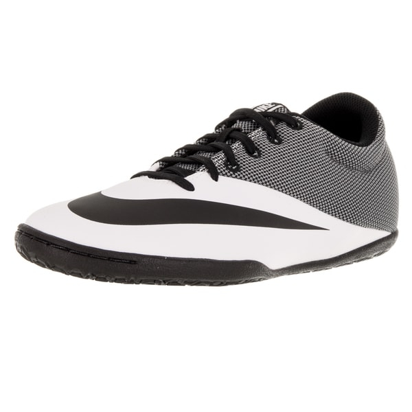 Nike Men's Mercurial Pro IC White and Black Synthetic and Mesh Indoor Soccer Shoe