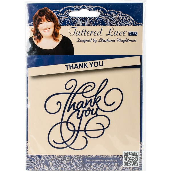Tattered Lace Metal Die Ornate Thank You