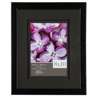 Gallery Solutions Black Frame with Airfloat Mat