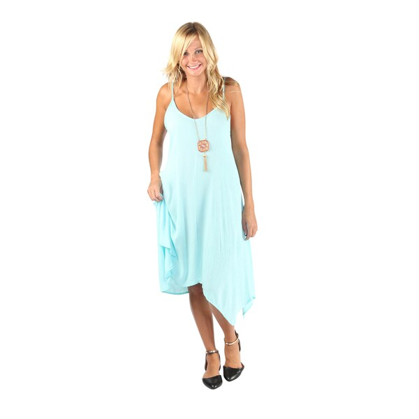 Hadari Womens Jade Sleeveless V-neck boho dress