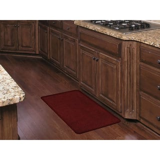 Red/Brown Polyester Premium Anti-fatigue Kitchen Comfort Mat