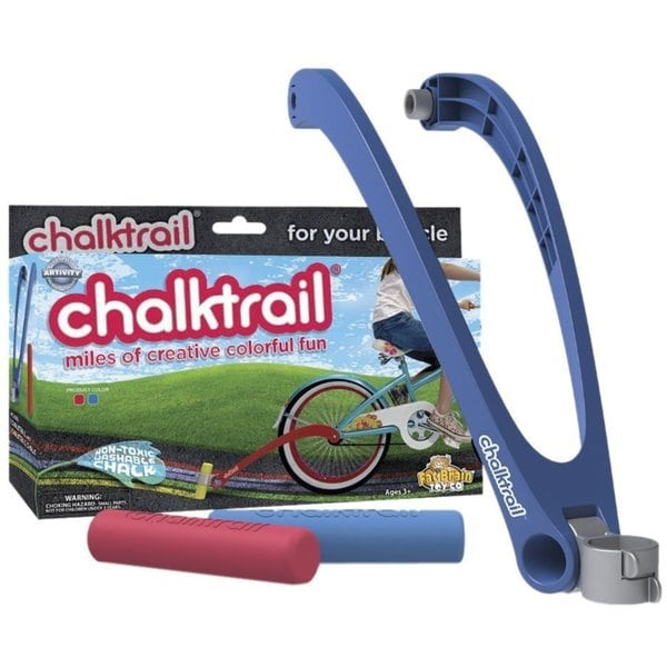 Fat Brain Toys Blue Chalktrail for Bikes