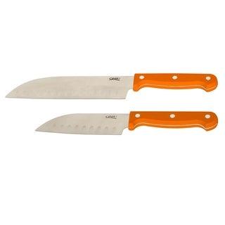 Ginsu ESS OJ Spice Stainless Steel 2-piece Santoku Knife Set
