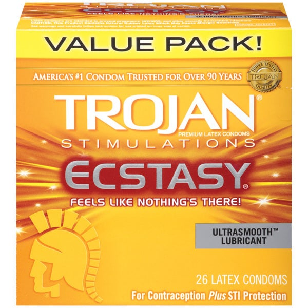 Trojan Stimulations Ecstasy Lubricated Condoms (Case of 26) 19500430