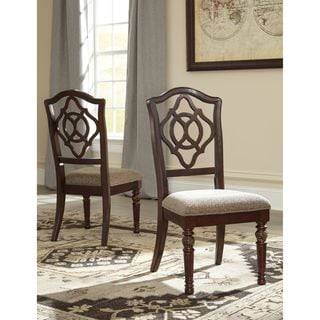 Signature Design by Ashley Leahlyn Brown Dining UPH Side Chair (Set of 2)
