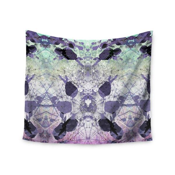 KESS InHouse Danii Pollehn 'Geometrical Jumper' Purple Geometric 51x60-inch Tapestry