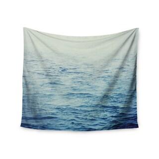 KESS InHouse Debbra Obertanec 'Foggy Morning Ocean' Coastal Blue 51x60-inch Tapestry