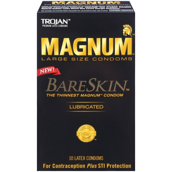 Trojan Magnum Bareskin Lubricated Condoms (Pack of 10) 19500552