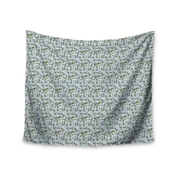 KESS InHouse Mayacoa Studio 'Jasmine' White Blue 51x60-inch Tapestry